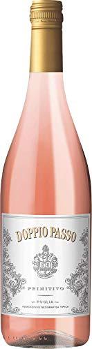 Doppio Passo Primitivo Rosato Puglia Rosewein veganer Wein trocken IGT Italien (3 Flaschen)