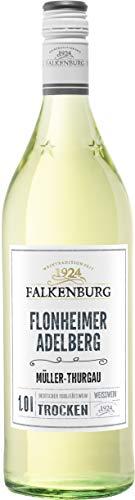 Falkenburg MüllerThurgau Flonheimer Adelberg Qualitätswein trocken (1 x 1 l)