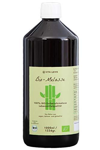 OHNE Konservierungsstoffe! 1 Liter / 1334gr 100% BIO-Zuckerrohr-Melasse, hochwertiges Naturprodukt,...