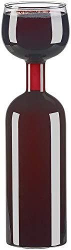 Rosenstein & Söhne Wein-Flaschen: 2in1-Weinflasche und XXL-Glas aus Echtglas, 750 ml...
