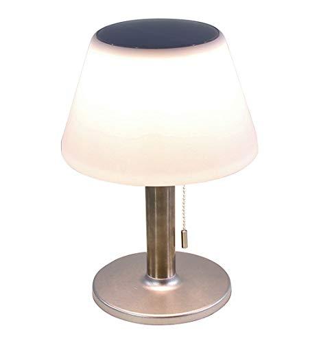 LED Solar Tischlampe in warmweiß - 27,5x19,5 cm / 10 LEDs - Outdoor Solarlampe Gartenlampe Tisch...
