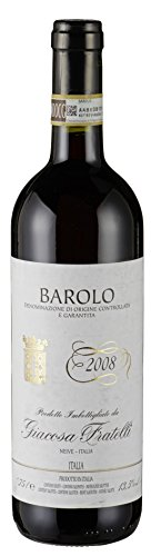Barolo DOCG tr. 2015 Giacosa Fratelli, trockener Rotwein aus dem Piemont