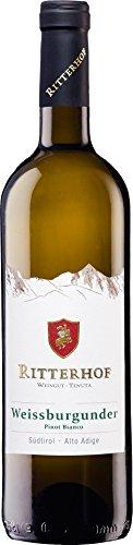 6x 0,75l - 2018er - Ritterhof - Weißburgunder - Alto Adige D.O.C. - Südtirol - Italien - Weißwein...