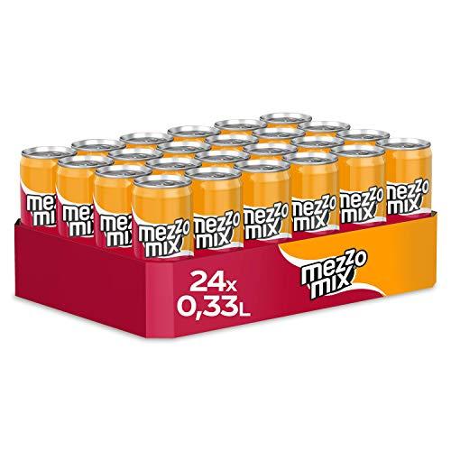 Mezzo Mix, Einzigartiges Mischgetränk aus Cola & Orange in stylischen Dosen, EINWEG Dose (24 x 330...