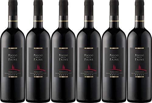 6x Rosso 2014 - Weingut Poggio delle Faine, Toscana - Rotwein