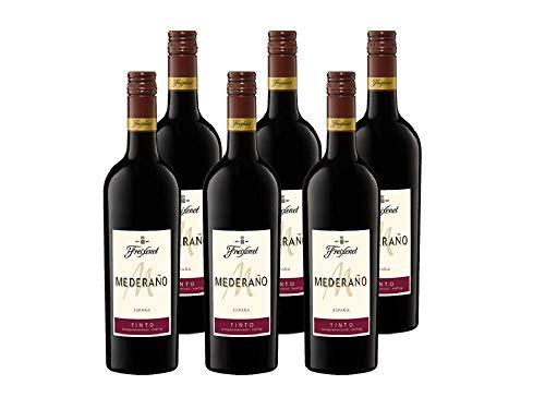 Freixenet Mederaño Tinto Wein, Halbtrocken, 13% Alkohol (6 x 0,75 l Flaschen) – Feinster Wein aus...