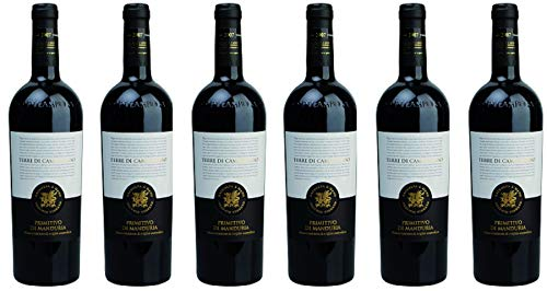 6 er Vorteilspaket Primitivo di Manduria DOC 2019 | Terre di Campo Sasso | 6 x 0,75 L | Rotwein aus...
