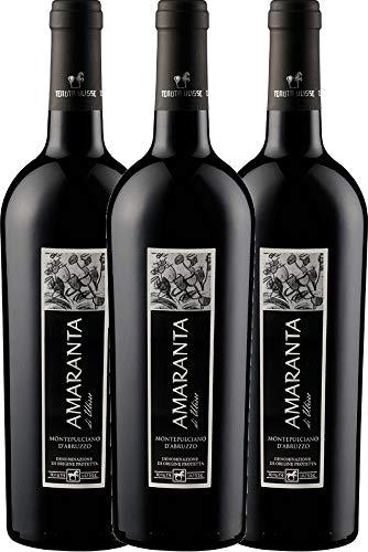VINELLO 3er Weinpaket Rotwein - AMARANTA Montepulciano d'Abruzzo DOC 2018 - Tenuta Ulisse mit...
