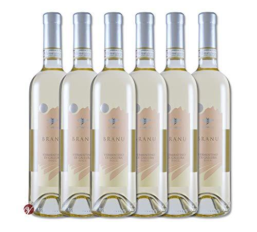6 Flaschen Branu Vermentino di Gallura DOCG 2019 Vigne Surrau im Sparpack (6 x 0,75l), trockener...