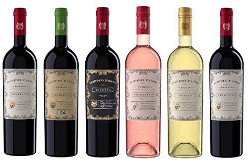 Doppio Passo Wein Probierpaket - Primitivo (2x0,75l) | Primitivo Bio (1x0,75l) | Riserva (1x0,75l) |...