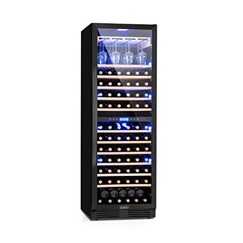Klarstein Vinovilla Onyx Grande Duo Weinkühlschrank, 425 Liter, 165 Weinflaschen, Glastür,...