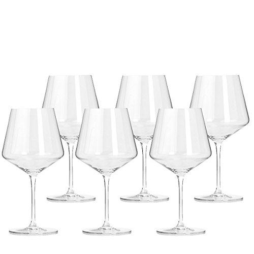 Leonardo Puccini Rotwein-Gläser, Rotwein-Kelch mit gezogenem Stiel, spülmaschinenfestes Wein-Glas,...