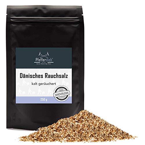 Dänisches Rauchsalz, kaltgeräuchertes Meersalz | Original Buchenholzrauchsalz mild-würzig, 250g -...
