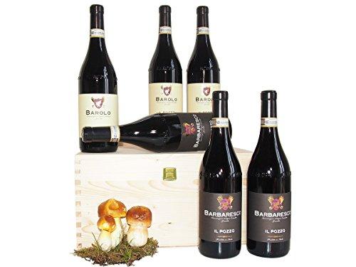 Barolo und Barbaresco die großen Weine von Piemont Geschenkset Wein - Besonderes Geschenk Beste...