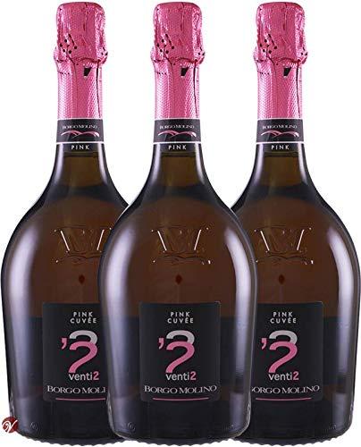 Pink Cuvee venti 2 Vino Spumante Extra Dry (3x0.75l) Borgo Molino