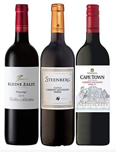 3er Probierpaket Rotwein aus Südafrika zum Kennenlernen | trocken | 3 x 0,75 L.