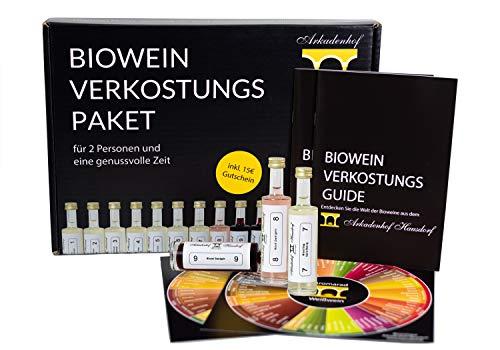Biowein Verkostungs Paket | Mini Wein Tasting Set (10x 50ml) | Weinprobe Set: vegan bio trocken |...