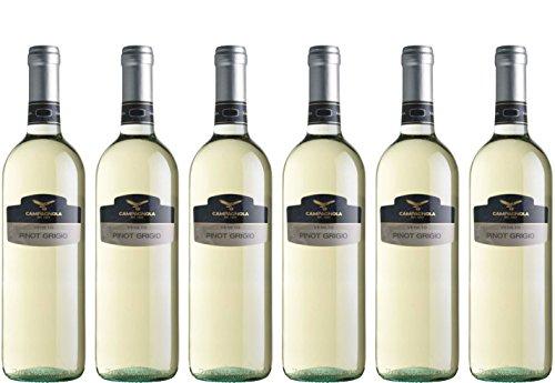 Pinot Grigio 1 Ltr. - Campagnola - weiß - trocken - 12%vol.- 6er Paket