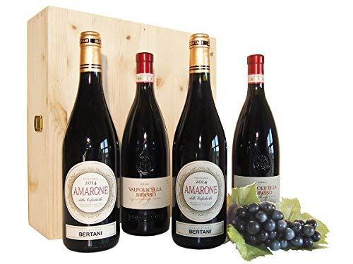 Amarone und Valpolicella Ripasso Bertani Weitere wichtige venezianische Weine in Holzkiste - Beste...