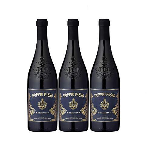 Doppio Passo Primitivo Salento Rotwein veganer Wein trocken IGT Italien (3 Flaschen)