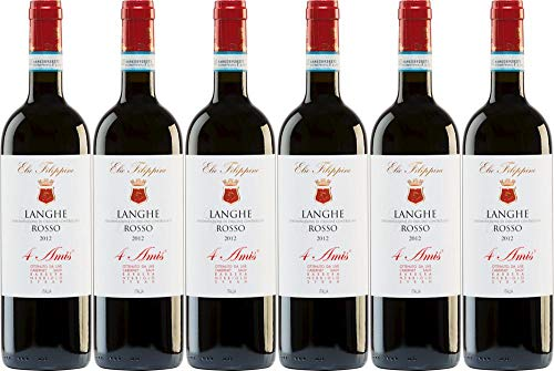 6x Langhe Rosso 4 Amis 2015 - Weingut Elio Filippino, Piemonte - Rotwein