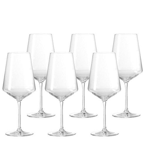 Leonardo Puccini Weißwein-Gläser, Weisswein-Kelch mit gezogenem Stiel, spülmaschinenfeste...