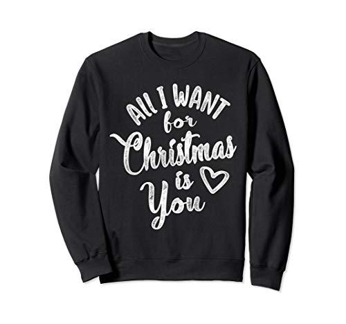 Alles, was ich für Weihnachten will, ist Sie Weihnachtsmann Sweatshirt