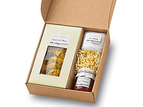 Geschenkkorb Mille Grazie Geschenk-Set Italien Präsentkorb mit Tajarin Pasta Basilico Tomaten-Sauce...