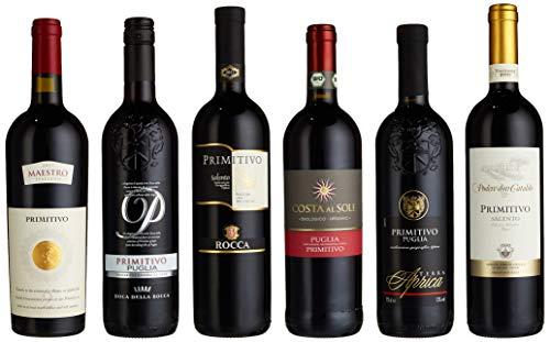 Probierpaket Primitivo zum Kennenlernen  Weinpaket mit italienischem Rotwein (6 x 0,75 l)  ...