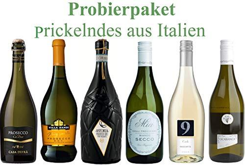 Probierpaket Prickelndes | Prosecco und Frizzante aus Italien | 6 x 0,75l
