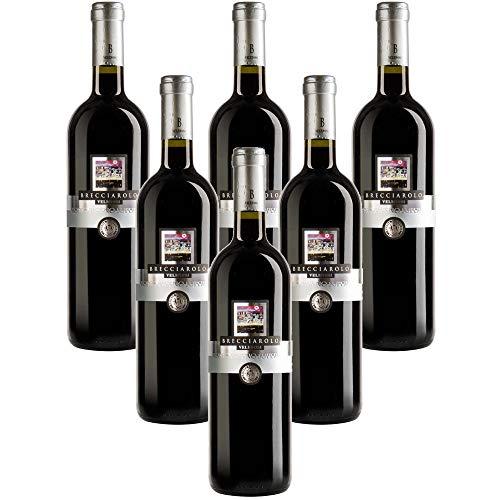 VELENOSI-Weine - Marke Brecciarolo Rosso Piceno D.O.C. Superiore Italienischer Rotwein (6 flaschen...