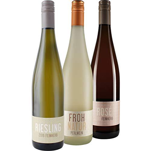 """Nehrbaß - 3er Wein Set """"Mädelsabend"""" 3 x 0,75 Liter aus: 1 x Frohnatur 2019 Perlwein trocken,..."""