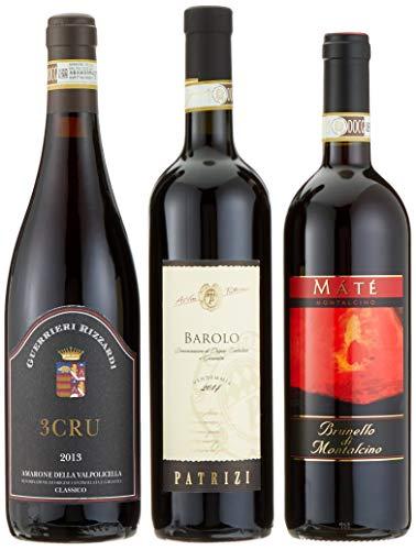 Geschenkset 'Klassiker Italiens' Rotweine im Geschenkkarton (3 x 0.75 l)