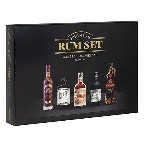 Premium Rum Tasting Set 5 x 50 ml : Ron Botucal Exclusiva, Remedy Spiced Rum, Ron Centenario 20, Don...