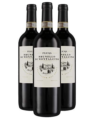 Brunello di Montalcino DOCG 2014 - Villa da Filicaja - 3 x 0,75 l. - Italienischer Wein - Toskana...