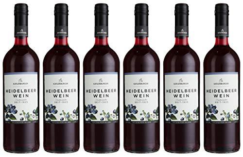 Katlenburger Fruchtwein Heidelbeere 6x 0,75l, reiner Heidelbeerwein, Beerenwein, lieblicher Obstwein...