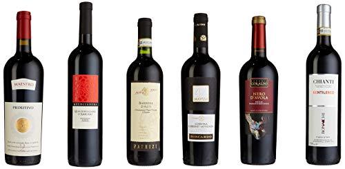 """Probierpaket """"Rotweinreise durch Italien""""  Weinpaket mit sechs verschiedenen italienischen..."""