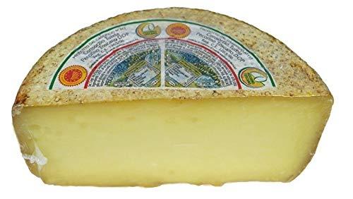 Pecorino Toscano g.U. Gereifter Schafskäse, Halbes Form, Gewicht von Kg.1,0