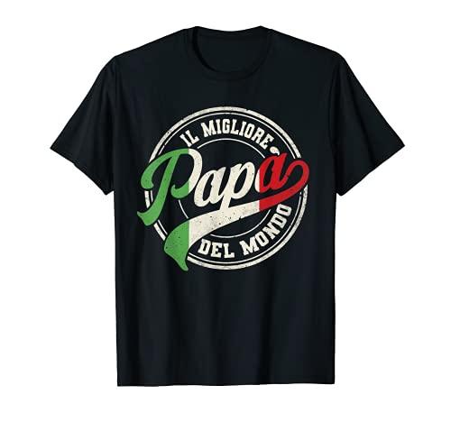 Herren Bester italienischer Papa der Welt Geschenke für Italiener T-Shirt