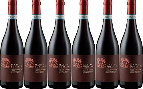 6x Langhe Nebbiolo 2017 - Weingut Marco Porello, Piemonte - Rotwein