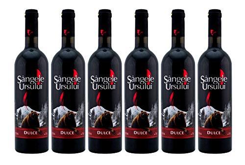 Crama Ceptura | Sangele Ursului – Rotwein süß aus Rumänien | Weinpaket 6 x 0.75 L + 1...