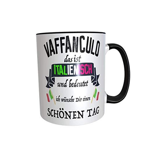 Kaffeetasse Vaffanculo Italienisch freche Tasse Kaffeetasse Tasse Becher Italien Italiener Geschenk...
