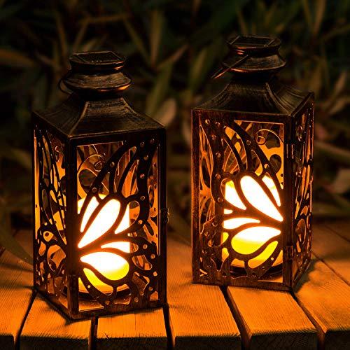Solar Laterne,OxyLED LED Kerze und Täuschend echt Wirkenden Flacker-Effekt, IP44 Festive Light für...