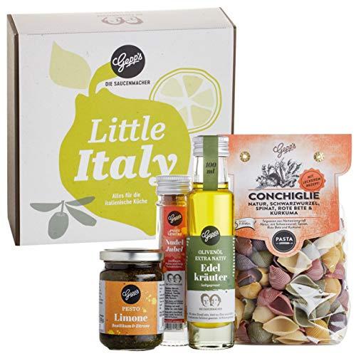 Gepp's Feinkost Little Italy Geschenkbox zu Weihnachten I Gefüllt mit hausgemachter Pasta &...