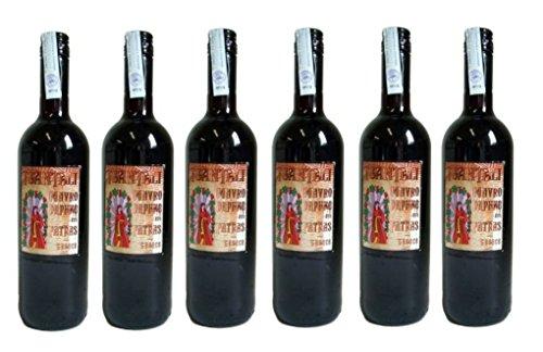 6x Mavrodaphne Rotwein lieblich Tsantali je 750ml/15% + 2 Probier Sachets Olivenöl aus Kreta a 10...