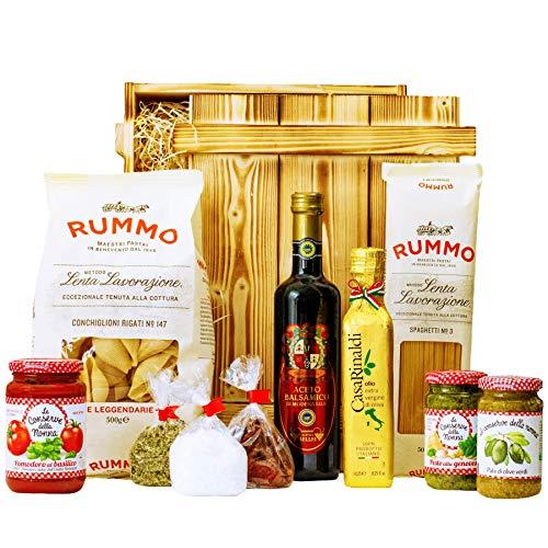 Geschenkset Pisa | Großer Italien Geschenkkorb mit Pasta, Feinkost & italienische Spezialitäten |...