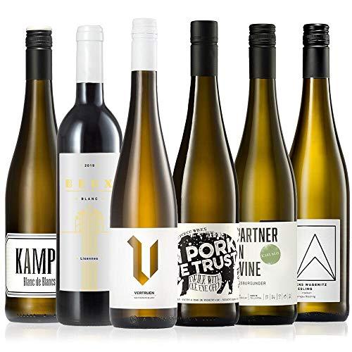 GEILE WEINE Weinpaket Weißwein (6 x 0,75) Probierpaket mit Weisswein von Winzern aus Deutschland,...
