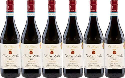 6x Dolcetto d' Alba Sori Capelli Magnum in 1er-Holzkiste 2018 - Weingut Elio Filippino, Piemonte -...