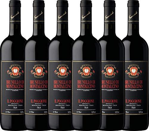VINELLO 6er Weinpaket Rotwein - Brunello di Montalcino DOCG 2014 - Tenuta il Poggione mit...