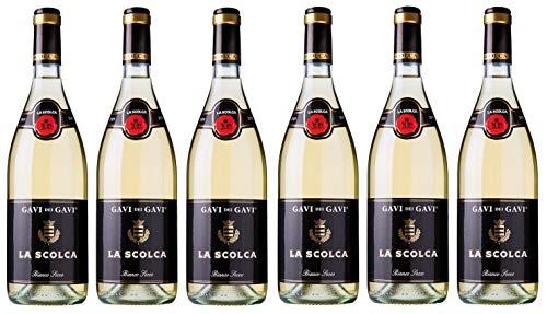 6x 0,75l - 2019er - La Scolca - Etichetta Nera - Gavi D.O.C.G. - Piemonte - Italien - Weißwein...